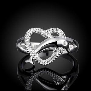 Sterling Silver Handmade Dolphin Love Ring